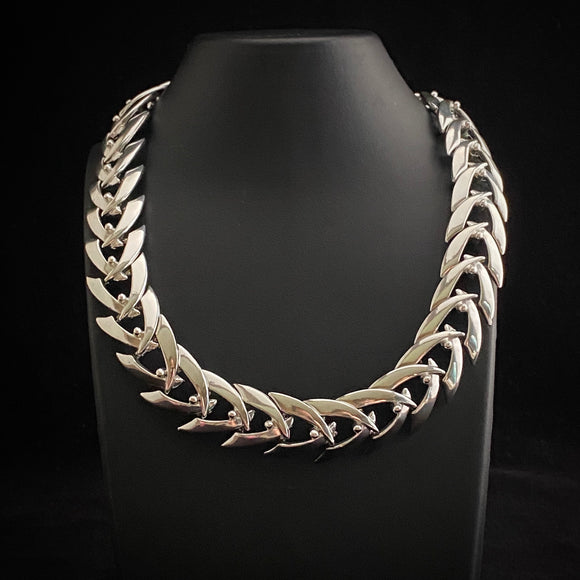 1960s Coro Silver Necklace - Retro Kandy Vintage