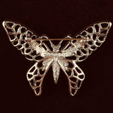 1971 Sarah Coventry Madam Butterfly Gold Brooch - Retro Kandy Vintage