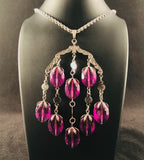 1973 Sarah Coventry Wisteria Necklace & Earrings - Retro Kandy Vintage