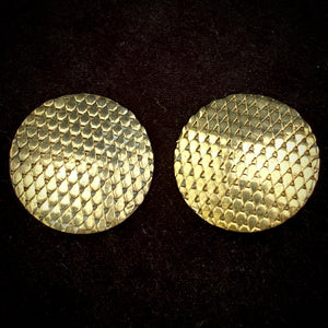 1980s Whiting & Davis Gold Earrings - Retro Kandy Vintage