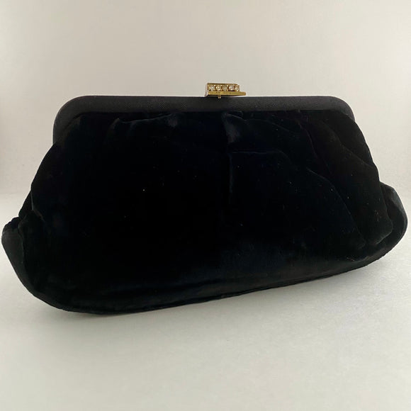 Late 50s/ Early 60s Black Velvet Clutch