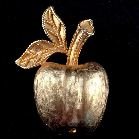 1974 Avon Gilded Apple Brooch