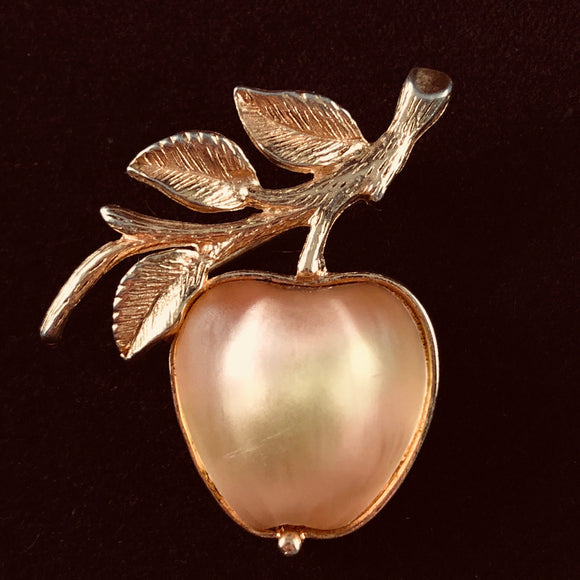1970 Sarah Coventry Delicious Gold Brooch - Retro Kandy Vintage