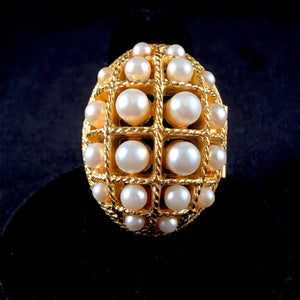 1970 Ring of Pearls Glace Ring