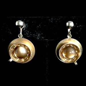 1950s Sarah Coventry Coffee Break Earrings