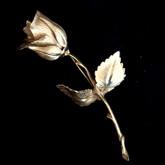 1960s Giovanni Rose Bud Brooch