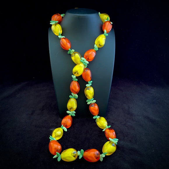 1950s Western Germany Fruit Salad Necklace