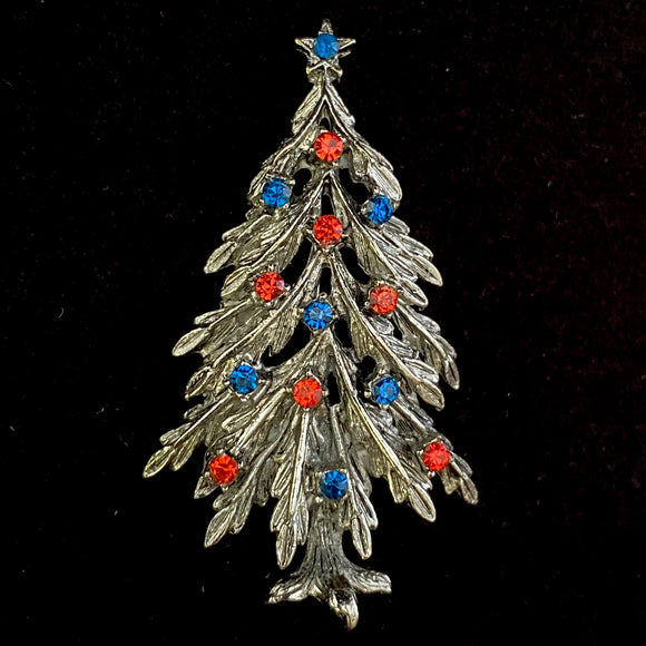 1950s ART Christmas Tree Brooch - Retro Kandy Vintage