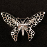 1971 Sarah Coventry Madam Butterfly Silver Brooch