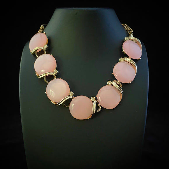 Late 50s / Early 60s Lisner Moonglow Choker Necklace - Retro Kandy Vintage