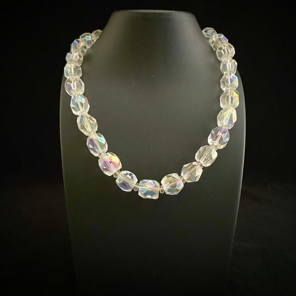 1950s Glass Crystal Necklace