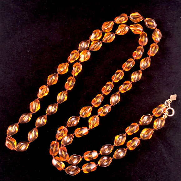 1976 Sarah Coventry Amber Holiday Beads