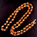1976 Sarah Coventry Amber Holiday Beads - Retro Kandy Vintage