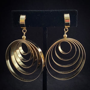 1970s Napier Swivel Hoop Earrings - Retro Kandy Vintage
