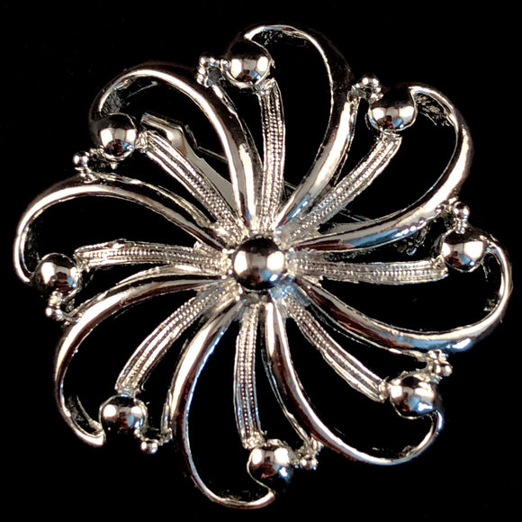 1960s Gerry's Floral Abstract Brooch
