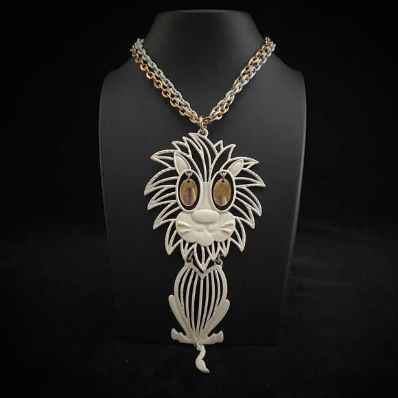 1960s Alan Lion Pendant Necklace