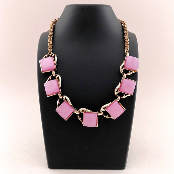 Late 50s/ Early 60 Purple Lucite Necklace