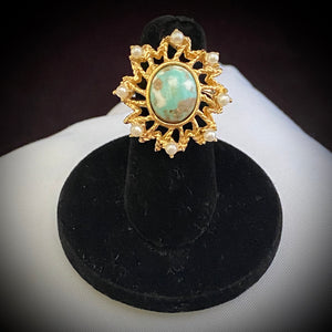1972 Sarah Coventry Azure Skies Ring