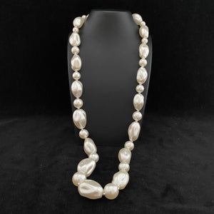 1980s Faux Pearl Necklace