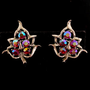 1960 Sarah Coventry Dazzling Aurora Earrings - Retro Kandy Vintage
