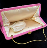 1960s HL Pink Fabric Clutch - Retro Kandy Vintage