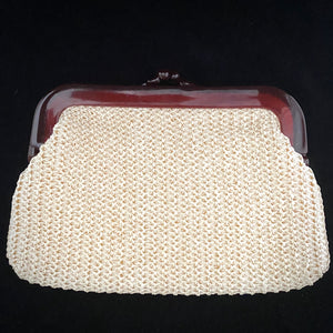 1970s Made in Hong Kong Raffia Clutch - Retro Kandy Vintage