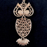 1974 Sarah Coventry Nite-Owl Necklace - Retro Kandy Vintage