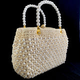 1960s Made In Italy Bead & Raffia Handbag - Retro Kandy Vintage