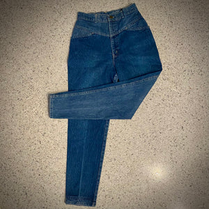 1980s Chic, Sunset Blues Denim Jeans