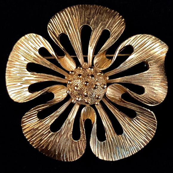 Late 60s/ Early 70s Trifari Flower Brooch