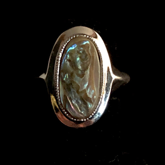 1978 Avon Abalone Ring
