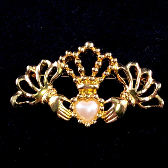 1994 Avon Charming Claddagh Brooch - Retro Kandy Vintage