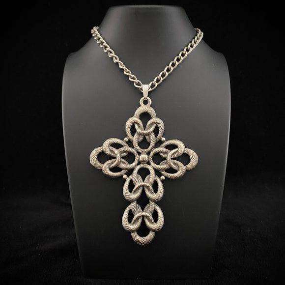 1973 Sarah Coventry Today Pendant Cross Necklace