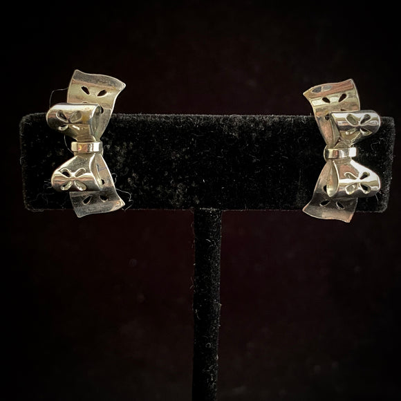 1950s Coro Bow Earrings - Retro Kandy Vintage