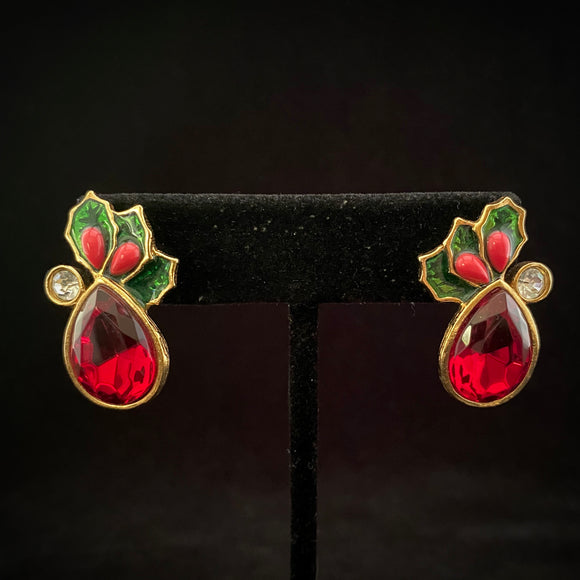 1993 Avon Mistletoe Earrings - Retro Kandy Vintage
