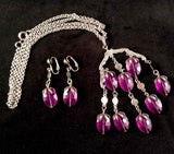 1973 Sarah Coventry Wisteria Necklace & Earrings