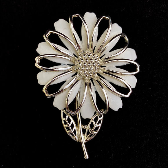 Late 60s / Early 70s Coro Flower Brooch - Retro Kandy Vintage