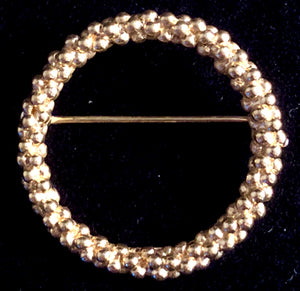 Late 60s/ Early 70s Trifari Gold-Tone Circle Pin