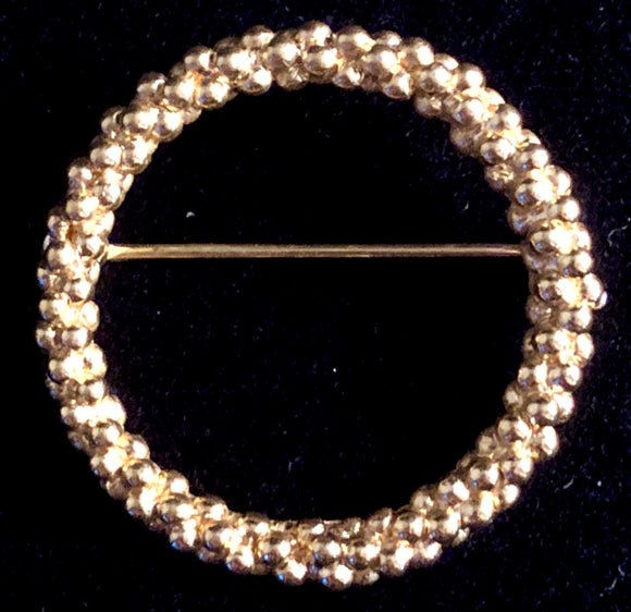 Late 60s/ Early 70s Trifari Gold-Tone Circle Pin - Retro Kandy Vintage
