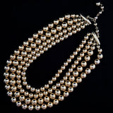 1950s Kramer 4-Strand Bead Necklace