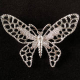 1971 Sarah Coventry Madam Butterfly Silver Brooch - Retro Kandy Vintage