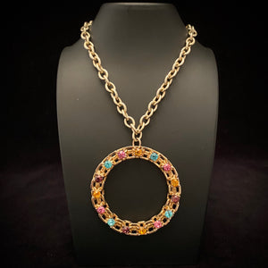 1974 Sarah Coventry Piccadilly Circle Necklace