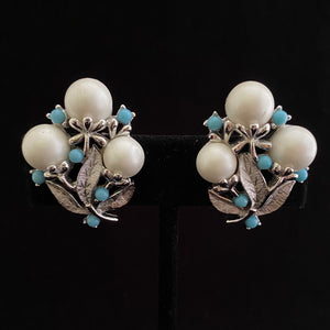 1961 Sarah Coventry Alaskan Summer Earrings