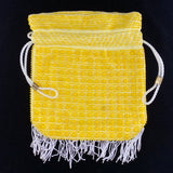 1960s Yellow Beaded Drawstring Bag - Retro Kandy Vintage