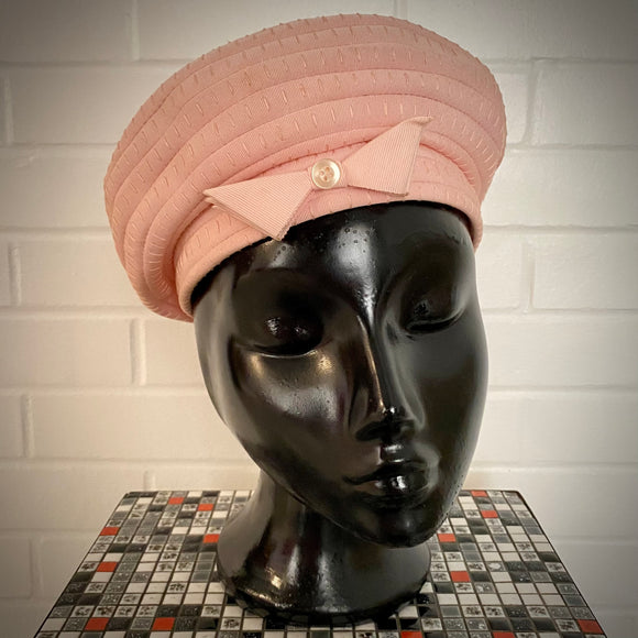 1950s Grosgrain Ribbon Beret Hat