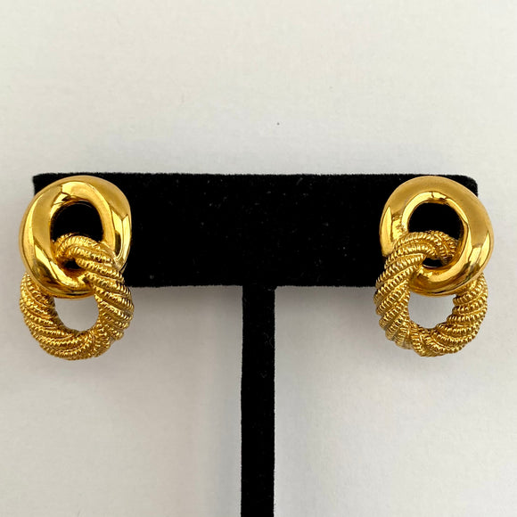 1980s Napier Gold-Tone Earrings