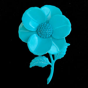 Late 60s/ Early 70s Enamel Flower Brooch - Retro Kandy Vintage