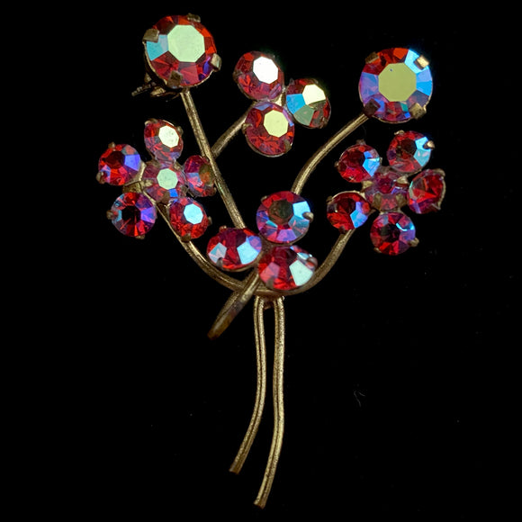 Late 50s/ Early 60s Made in Austria Flower Brooch - Retro Kandy Vintage