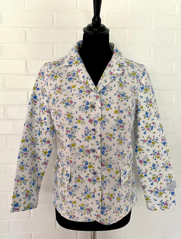 1960s Sears Junior Bazaar Flowered Jacket