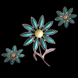 1971 Sarah Coventry Daisy Time Demi Parure - Retro Kandy Vintage